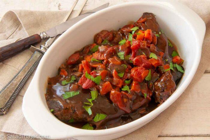 Slow Cooker Swiss Steak Ready to Serve