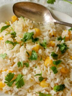 Cilantro Rice with Hominy