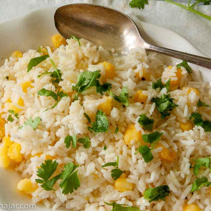 Cilantro Rice with Hominy