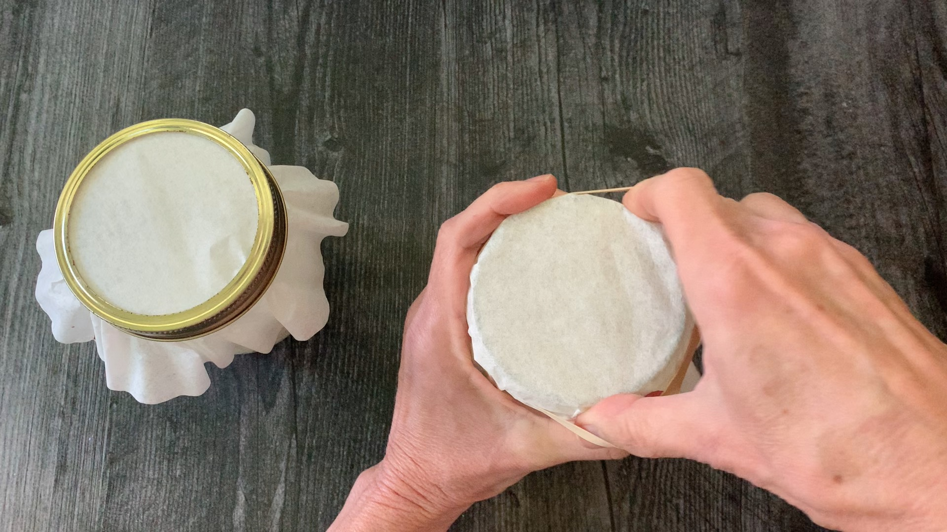 covering the jar