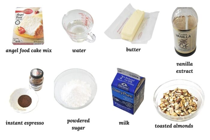 individual ingredients needed for cake