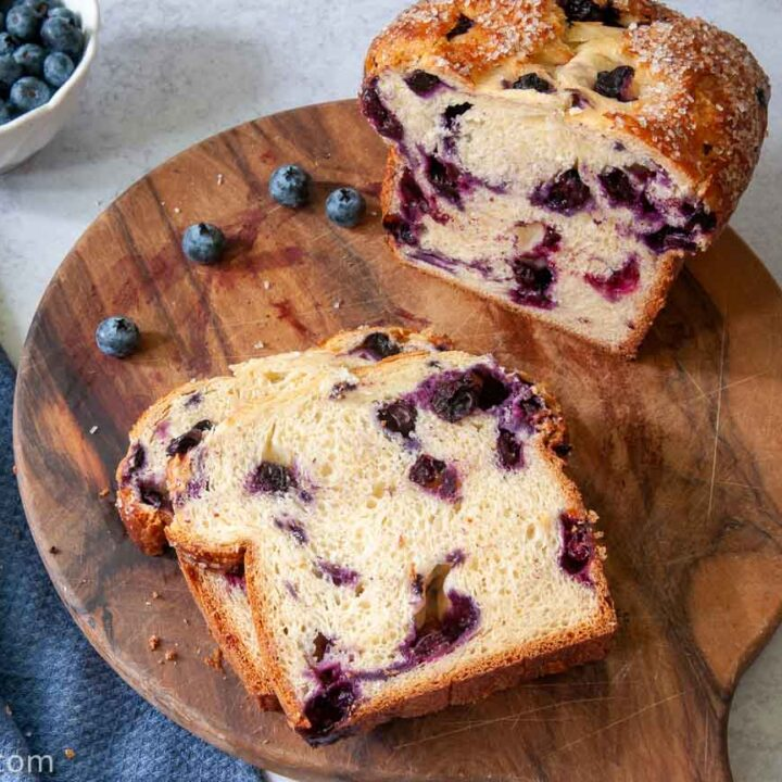sliced Blueberry Bread