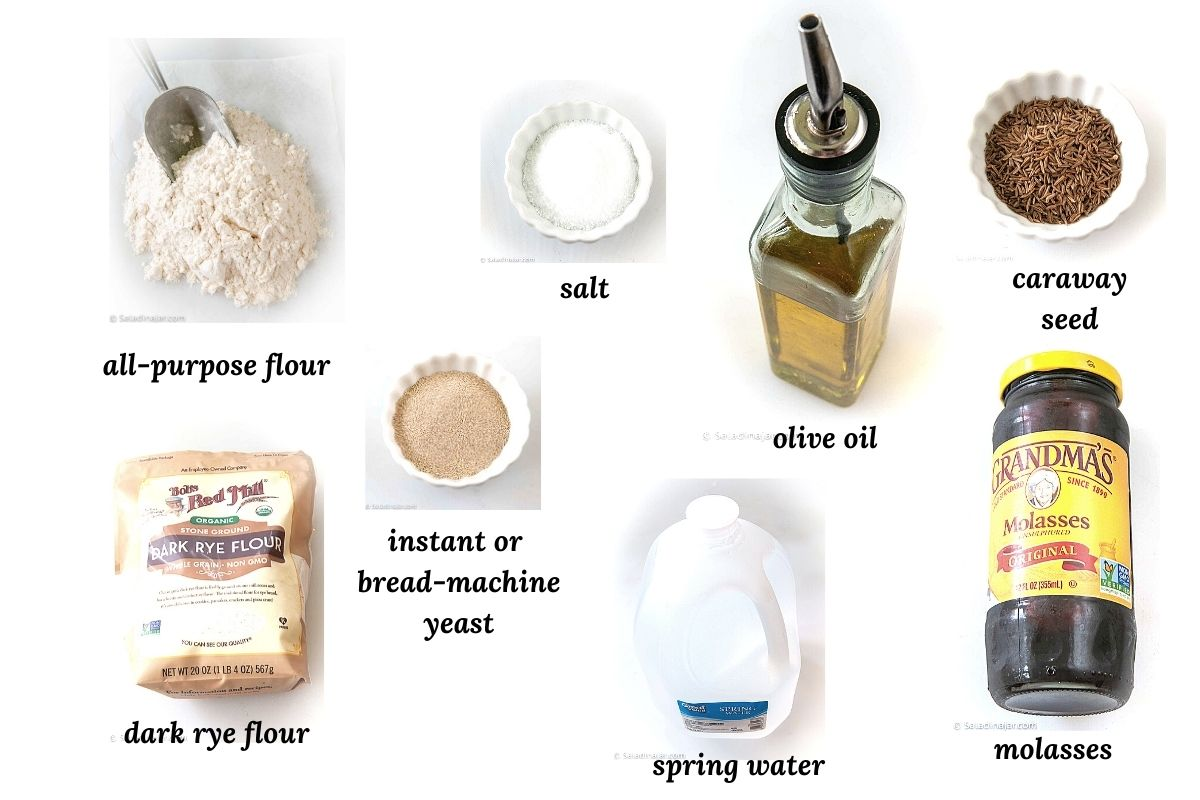 ingredients needed for rye bread