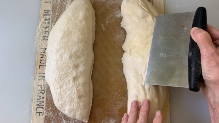 shaping the loaves