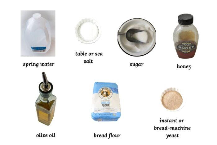 ingredients for bread machine pizza dough