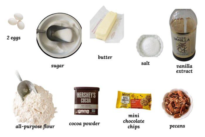 ingredients for microwave brownies