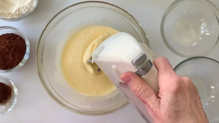 mixing the first 4 ingredients for  minutes