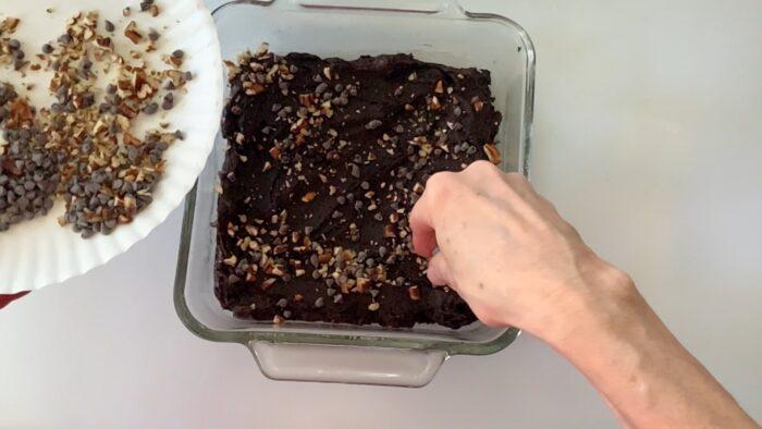 optional sprinkles on top of the brownies