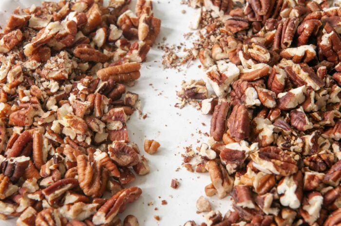 untoasted  vs. toasted pecans from microwave