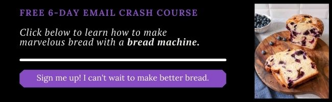 bread machine crash course sign-up
