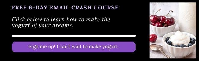 yogurt course