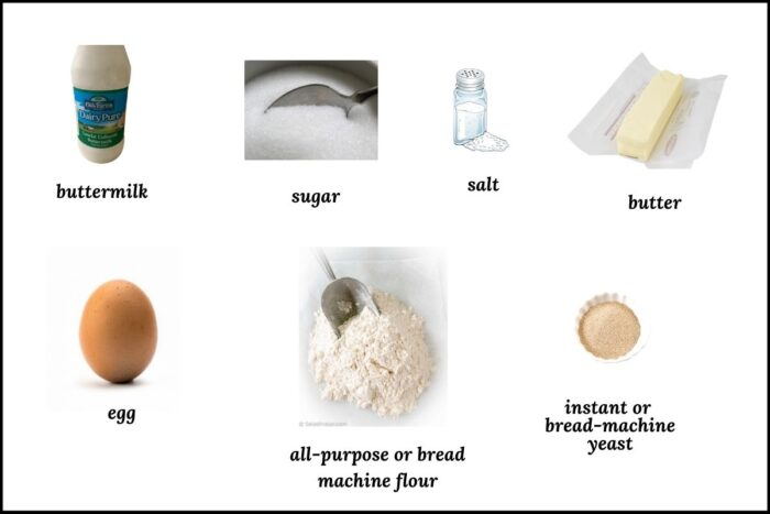 ingredients needed for this bread maker recipe