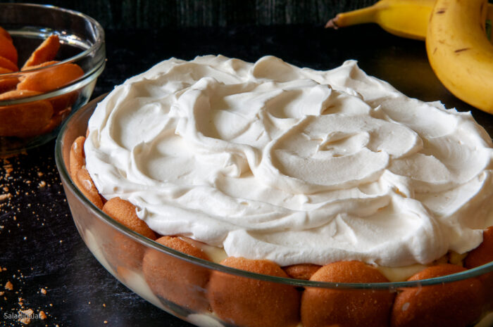 Finished Microwave Banana Pudding--ready to serve