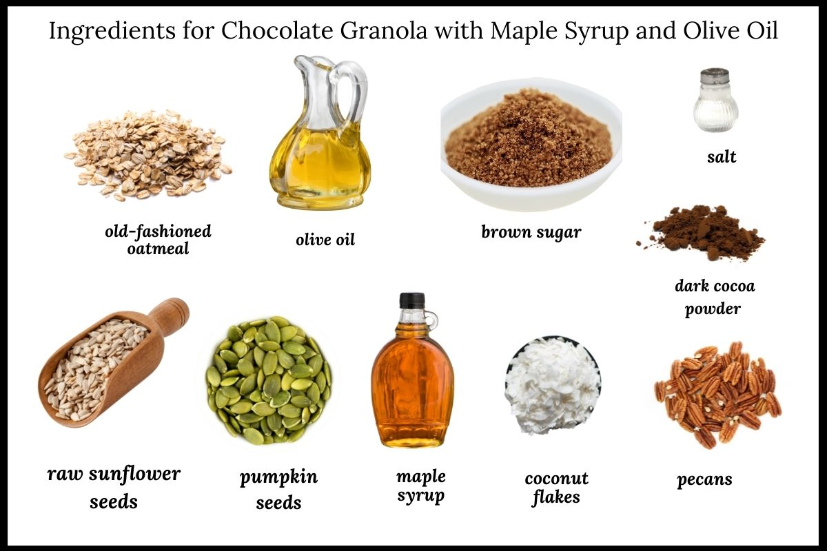 Ingredients needed for this granola