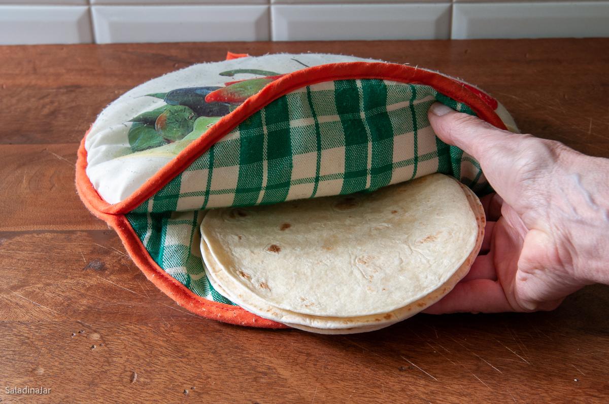 microwave-safe tortilla warmer