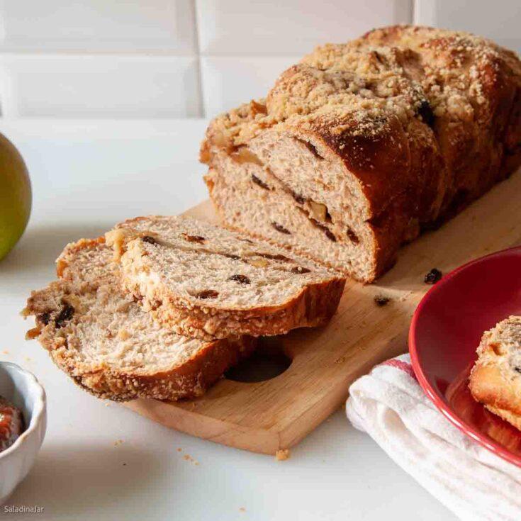 Apple-Cinnamon Bread sliced