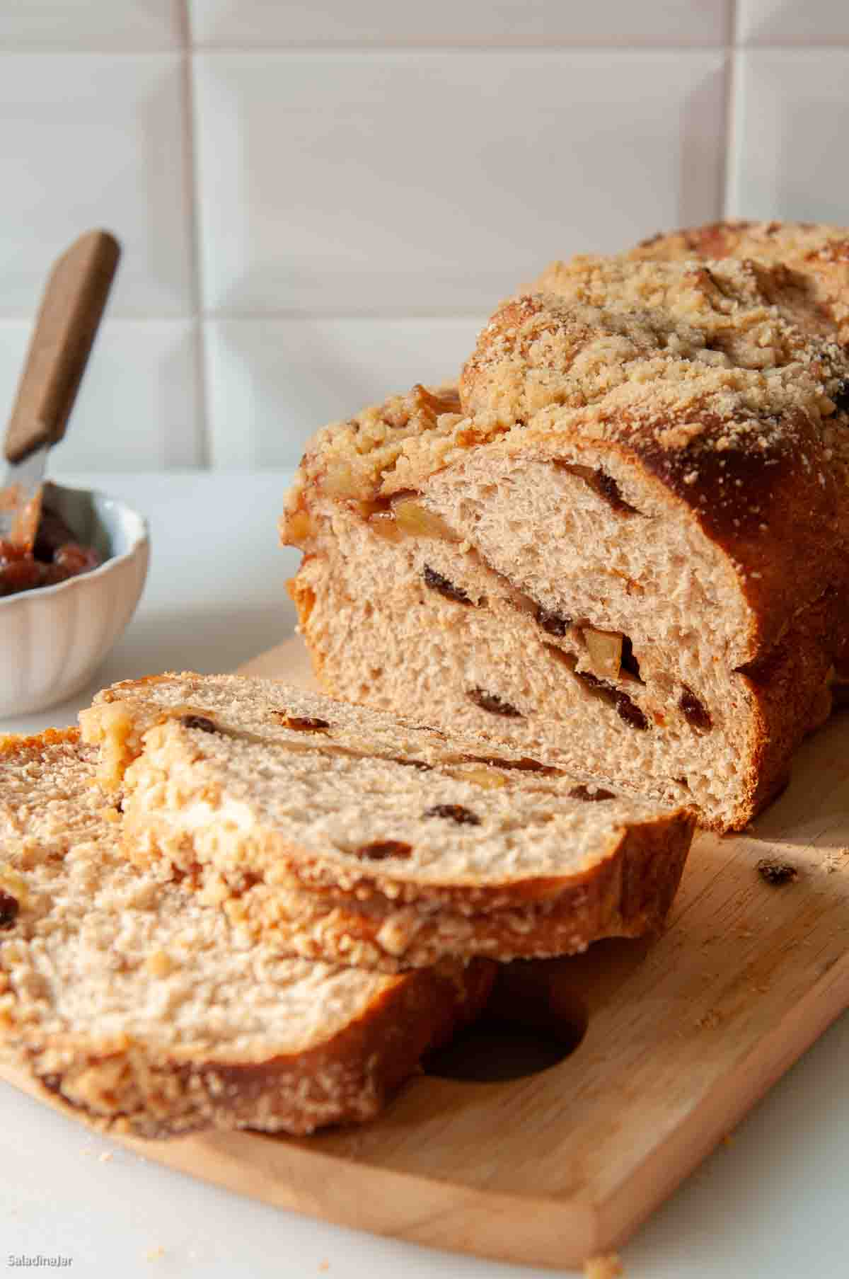 Cinnamon Apple Loaf for the Bread Machine--sliced